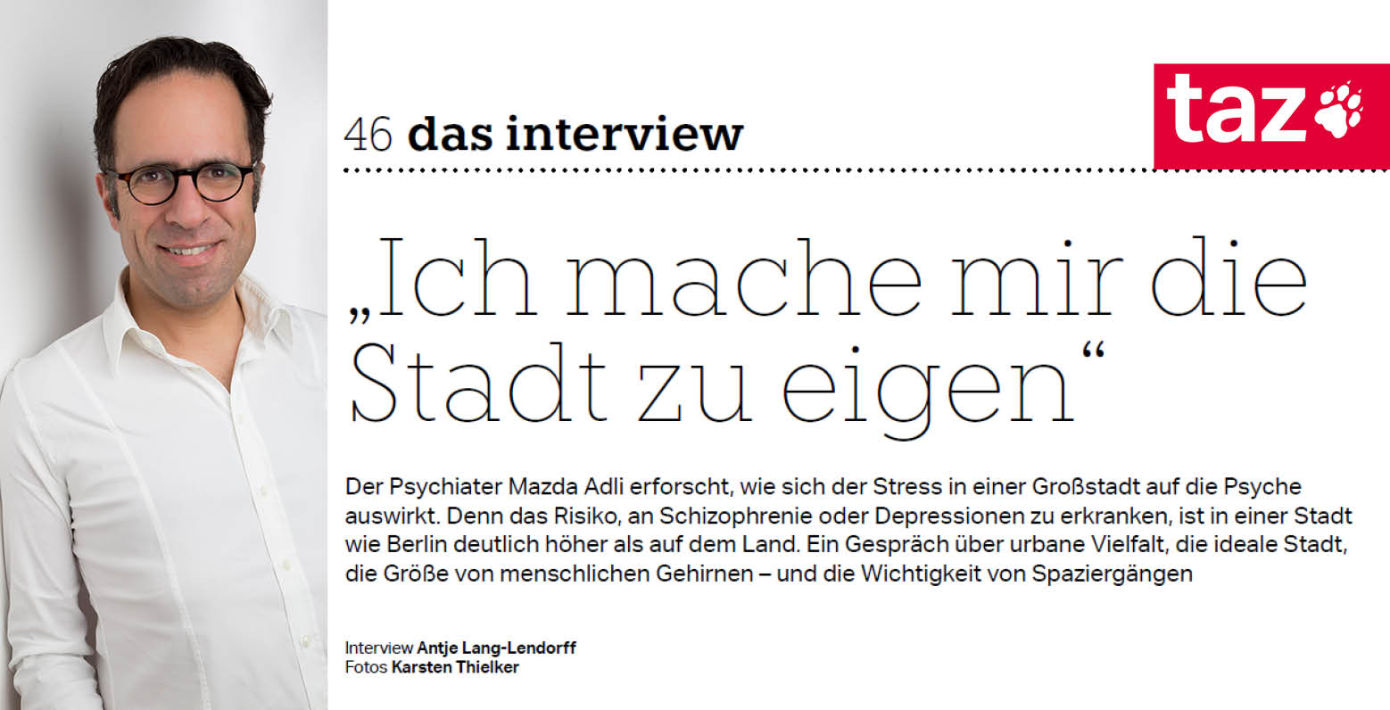 taz. Interview zum Thema Stadtstress