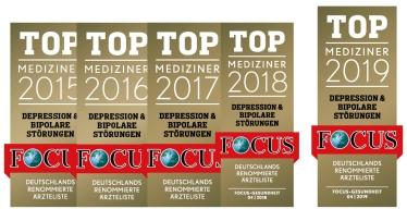 Auch 2019 Auszeichnung<br>FOCUS TOP-Mediziner
