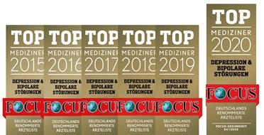Auch 2020 Auszeichnung<br>FOCUS TOP-Mediziner